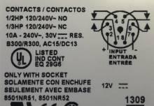 9050JCK16V36 SQUARE D Plug-In Timer 12VAC//DC 0.1-10 minutes On Delay